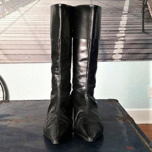 Zara Shoes - Vintage ZARA kitten heel boots, buckle detail, 39